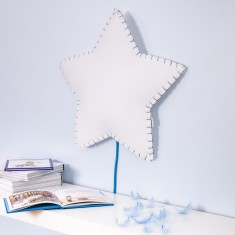 Soft Star Stitched Wall Light