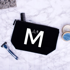 Adventure Alphabet Personalised Men's Wash Bag