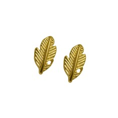 Feather studs in gold