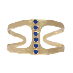 Lapis Blue Jade Cuff
