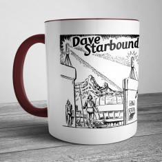 Retro Illustration Mug Dave Starbound Space Scout