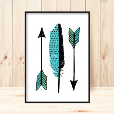 Little arrows art print