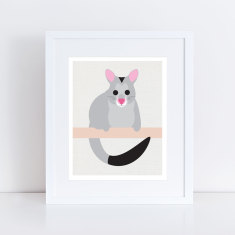 Aussie animal possum art print