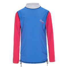Girls' UPF 50+ Illusion Long Sleeve Rashie with Ruching