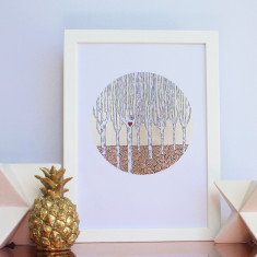 Looking For Love circular print