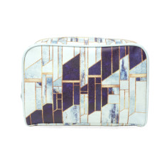 Blue & White Marble Wash Bag