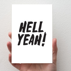 Hell Yeah Greeting Card