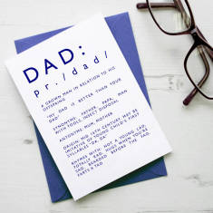 Definition of Dad Father's Day card