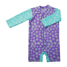 Baby sunsuit for girls in Summer Spots Carabean
