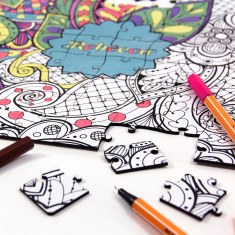 Pieceful Puzzle - Personalised Adult Colouring Puzzle