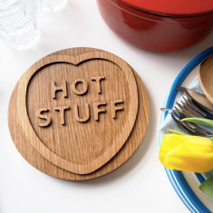 Solid oak hot stuff trivet