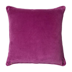 Basic large velvet cushion cover in pink
