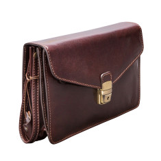 The Santino Mens Leather Clutch Bag With Wrist Strap.