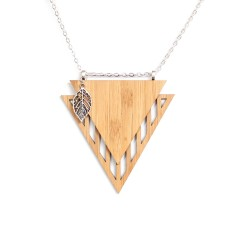 Natural bamboo leaf necklace