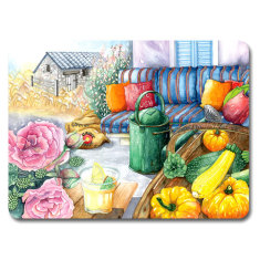 Placemat & coaster country life set