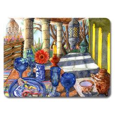 Mexican Vista placemat & coaster set