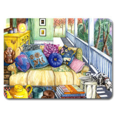 Summer snooze placemat & coaster set