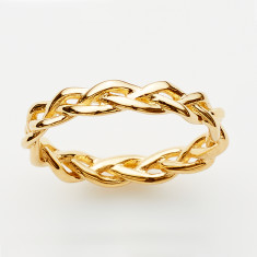 Plait ring in gold or rose gold plate