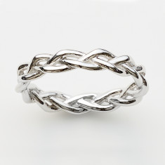 Plait ring in silver