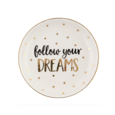 Follow Your Dreams Personalised Ring & Trinket Dish