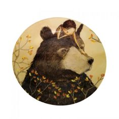 Bestest friends melamine plate