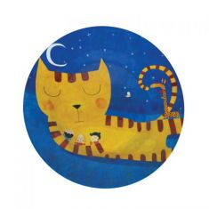 Sleeping cat melamine plate