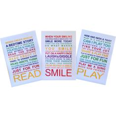 Playroom rules A3 unframed posters (set of 3)