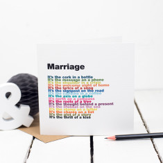 Marriage rainbow poem card