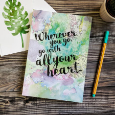 Wherever you go, go with all your heart inspirational travel journal