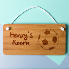 Personalised Football Bedroom Door Sign