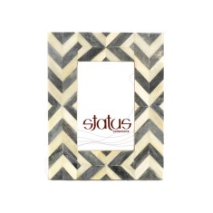 Mid grey chevron pattern frame