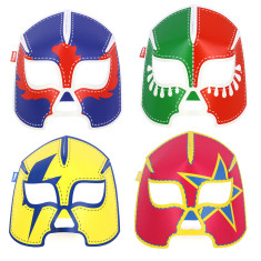 DOIY glowing wrestlers masks (set of 8)