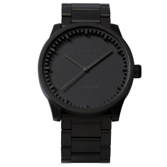 Leff Amsterdam tube watch S38 black finish