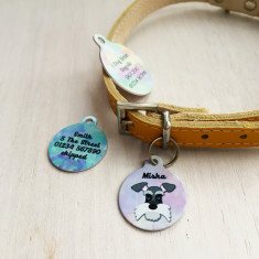 Watercolour Personalised Dog Breed ID Name Tag Bauble