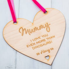Personalised Mother's Day Hanging Heart Sign