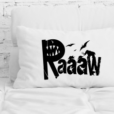 Dinosaur raaaw pillowcase