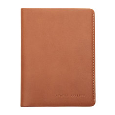 Conquest leather wallet in camel