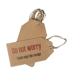 Do not worry, I kept the receipt Christmas gift tags (set of 6)