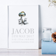 Personalised New Baby Birth Announcement Art