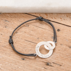 Personalised intertwined bracelet for him