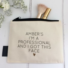 Professional face personalised makeup bag