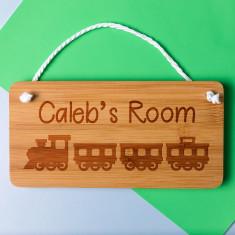 Personalised Train Bedroom Door Sign