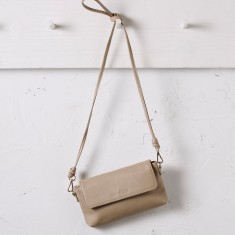 Mini cross body bag in sand