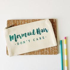 Mermaid hair pencil case