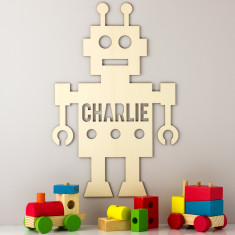 Personalised Wooden Robot Sign