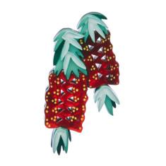 Erstwilder crimson callistemon brooch