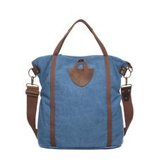 Canvas shopping tote shoulder bag in blue