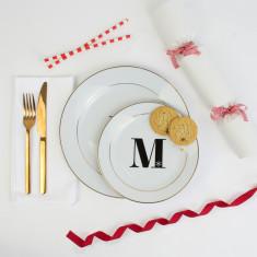 Christmas Alphabet Side Plate