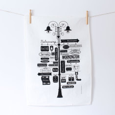 Mornington Peninsula linen tea towel