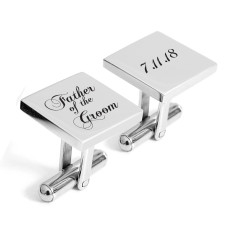 Father of the Groom engraved personalised cufflinks